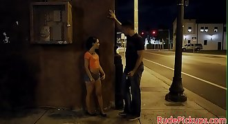 Facialized stranded teen pounded hard by dom