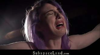 Purple hair victim rough spanked and predominated in hardcore fetish