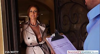 Sexy Milf Eva Notty suck and leap cock