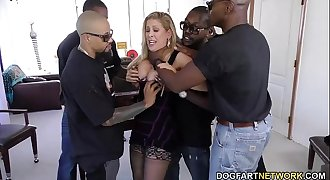 Cherie DeVille gets gangbanged by big black dicks